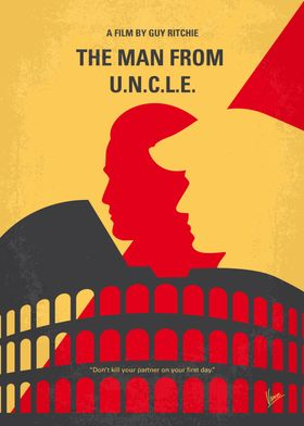 No572 My Man from UNCLE minimal movie poster In the ea ...