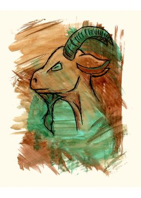 Goat Sign - Additional Detailing - Customization Availa ...