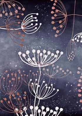 WONDERGARDEN ROSEGOLD BLUE by Monika Strigel