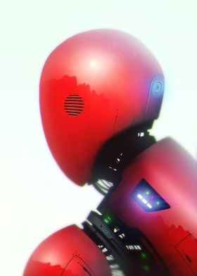 My personal 2d illustration of red robot.