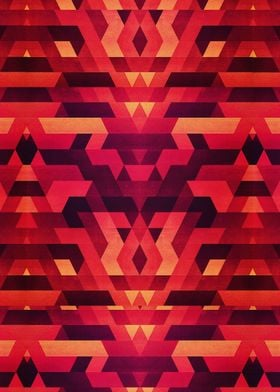 Abstract red geometric triangle texture pattern design ...