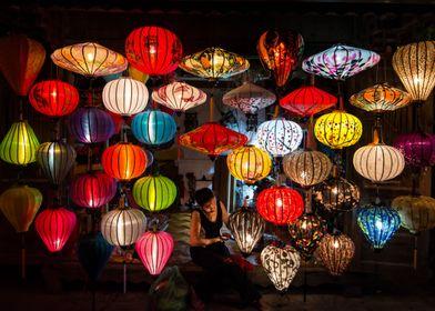 Lantern maker at Hoi An, Vietnam