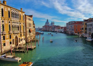 The Beautiful Grand Canal of Venice