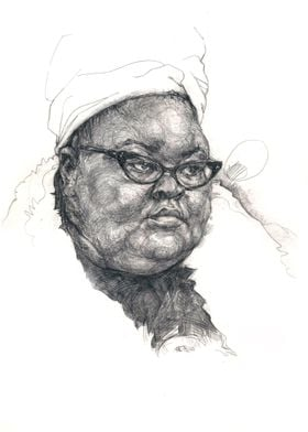 Inspired by New York peoples. Graphic pencils artwork.