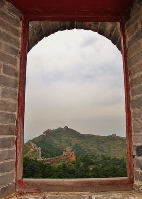 The Great Wall Of China through a window