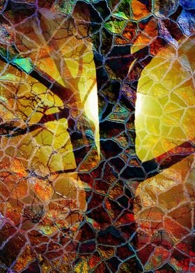 Abstract Glass Mosaic Tree
