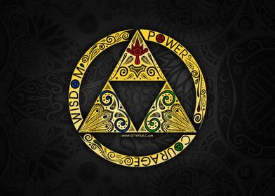 The Legend Of Zelda - Triforce circle By Art et Be www ...