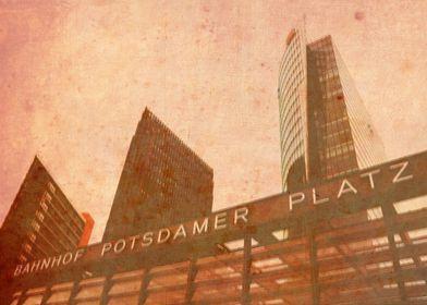 Railway station Potsdamer Platz in Berlin