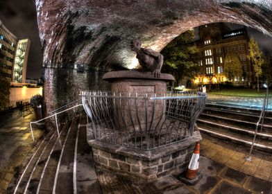 A HDR shot taken during the evening of the sculpture de ...