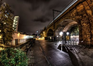 The railway bridge at the University of Manchester Inst ...
