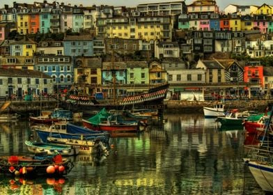 Brixham Harbour, Devon UK