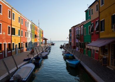 Burano, the fishing village in Italy.