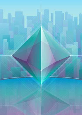 Geometric cityscapes. Vector work. 2015.