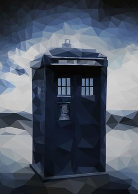 """Polygon Tardis - From  the tv show -""""Doctor who"""""""