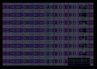 Layout of a 16-bit adder with barrel shifter  and regis ...