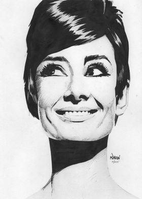 Audrey Hepburn. Created October 2015