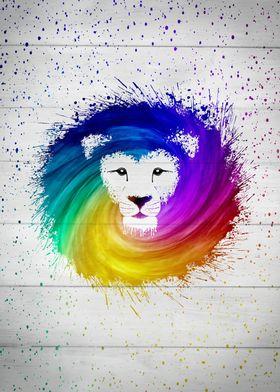 Multicolor paint Lion King