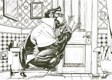 Gorilla on the Toilet.