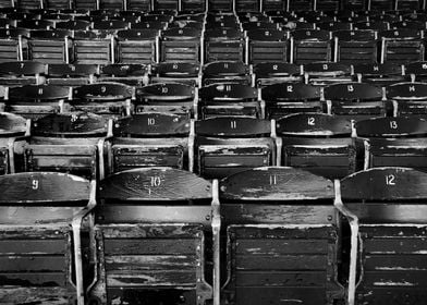 The old right field seats, Fenway Park in Boston, MA.