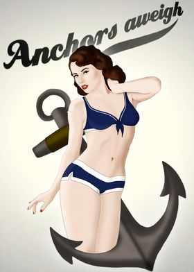 Anchors Aweigh - Classic Pin Up