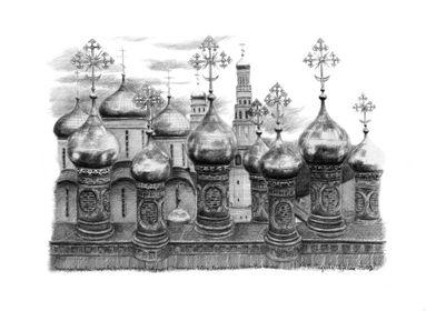 Kremlin Domes G048 by Svetlana Ledneva-Schukina