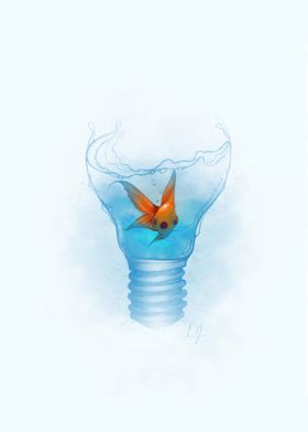 FISH WITHIN THE LAMP