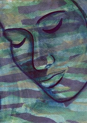 Daydreamer watercolor