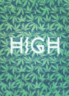 HIGH TYPO! Cannabis / Hemp / 420 / Marijuana  - Pattern ...