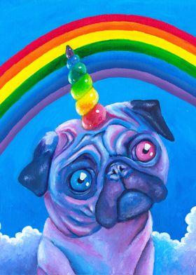 Rainbow Pugicorn