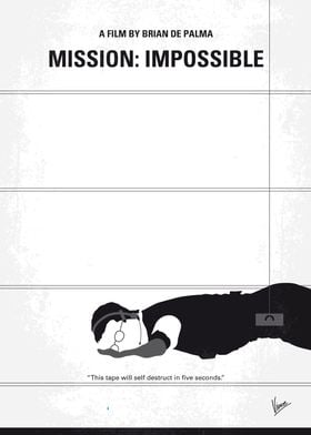 No583 My Mission Impossible minimal movie poster An Am ...