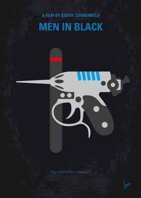No586 My Men in Black minimal movie poster A police of ...