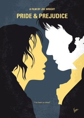 No584 My Pride and Prejudice minimal movie poster Spar ...