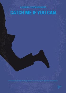 No592 My Catch Me If You Can minimal movie poster A tr ...