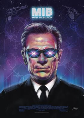 Men In Black Tommy Lee JonesThis poster is a graphic tr ...