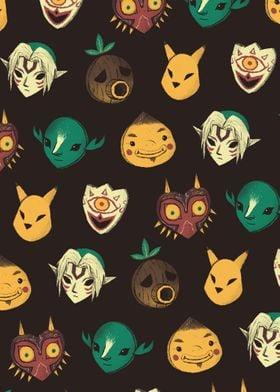 pattern of masks