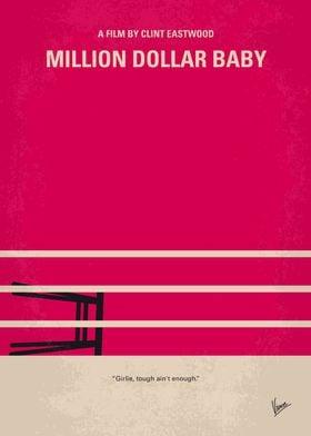 No613 My Million Dollar Baby minimal movie poster A de ...