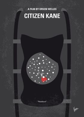 No605 My Citizen Kane minimal movie poster Following t ...