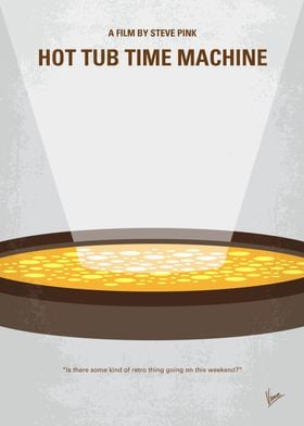No612 My Hot Tub Time Machine minimal movie poster A m ...