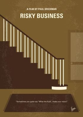 No615 My Risky Business minimal movie poster A Chicago ...
