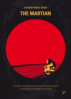 No620 My The Martian minimal movie poster During a man ...