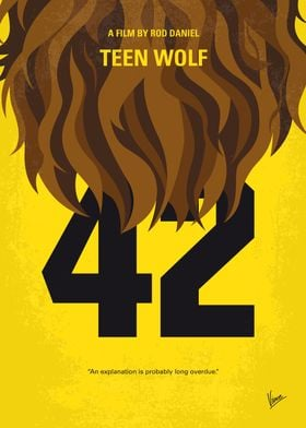 No607 My Teen Wolf minimal movie poster A struggling h ...