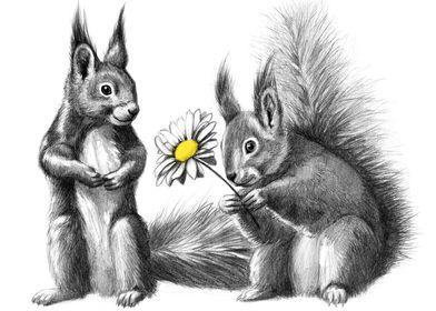 Squirrels - little gift G128 by Svetlana Ledneva-Schuki ...