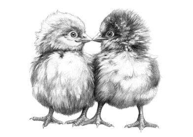 Baby Chicks - Little Kiss G133 by Svetlana Ledneva-Schu ...