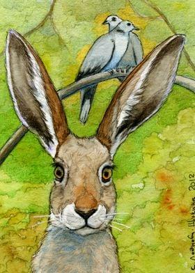 Funny bunnies-thoughts of love 836 by Svetlana Ledneva- ...