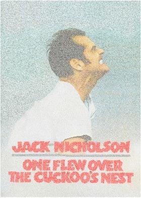 One Flew Over The Cuckoo's Nest. A typographic recreati ...