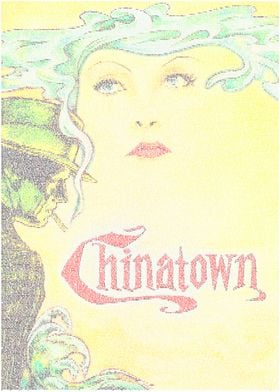 Chinatown. A typographic recreation of the Chinatown po ...