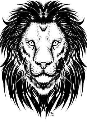 """Lion Artwork"" Digital Art"