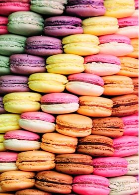 photography of colors macaroons
