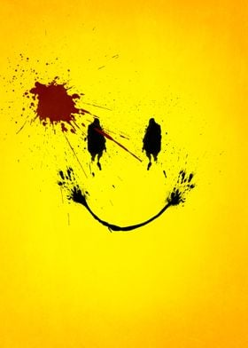 Splatter effect artwork inspired by Watchmen.