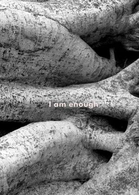 I am enough, black and white nature photography, ficus  ...